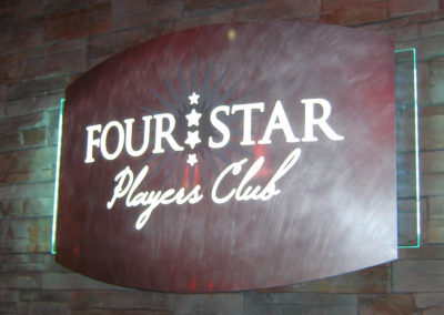 Four Star Players Club Interior Sign Image