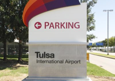 Tulsa International Parking Monument Sign