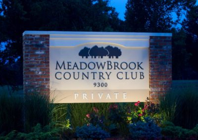Meadowbrook Country Club Monument Sign Image