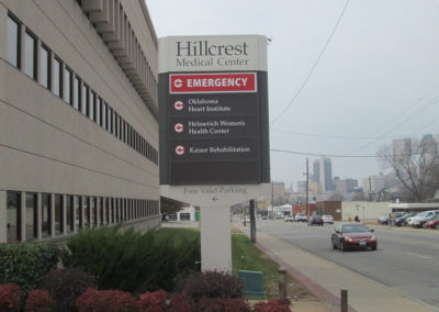 Hillcrest Medical Center Wayfinding Signage Image