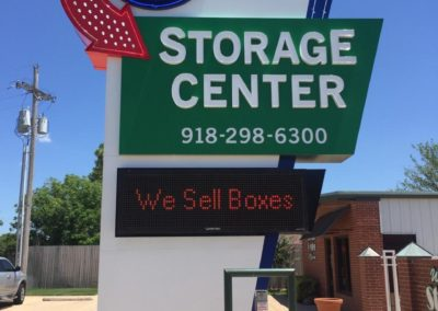 Storage Center Pylon with Message Center