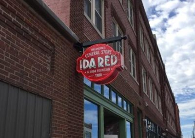 Ida Red Exposed Neon Wall Sign